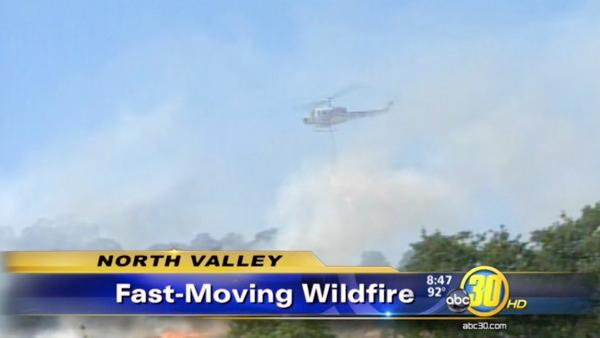 Crews fight large fire in Catheys Valley