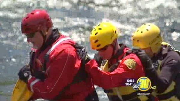 Training day for Fresno Co water rescue volunteers