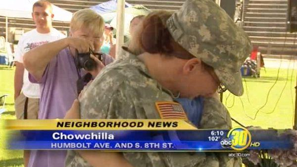 Emotional homecoming for Chowchilla military mother