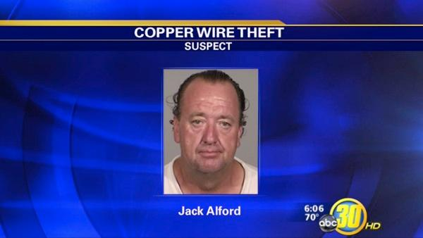 Clovis Police look for copper wire theft suspect