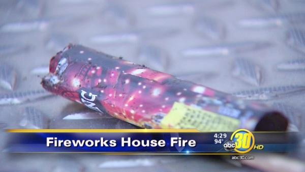 Firefighters blame illegal fireworks for house fire