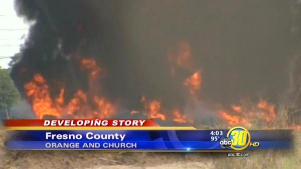 Fresno County industrial fire caused accidently by employees