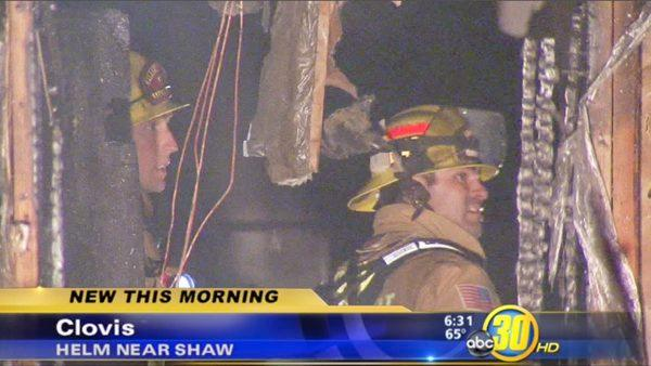 Clovis fire destroys one duplex unit