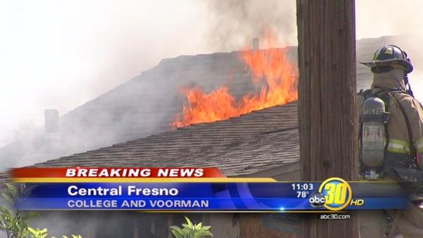 Central Fresno fire destroys family's home