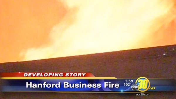 40 firefighters fought Downtown Hanford fire