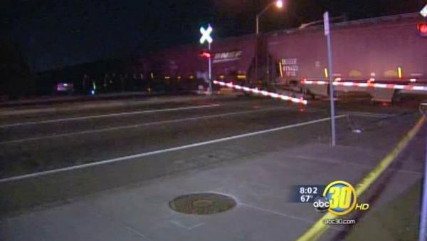 Car hit by train in Northwest Fresno