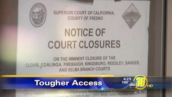 Seven courthouses to close in Fresno County