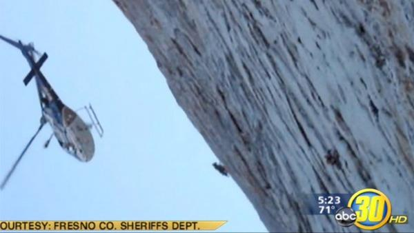 Dramatic cliff rescue in Fresno County