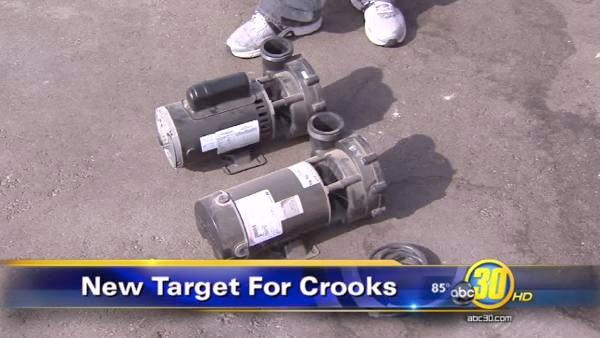 Copper thieves target pool pumps