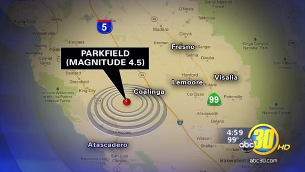 4.5 quake strikes near Parkfield