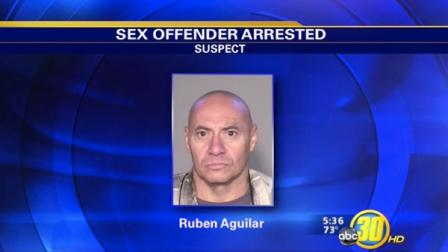 Registered sex offender Ruben Aguilar