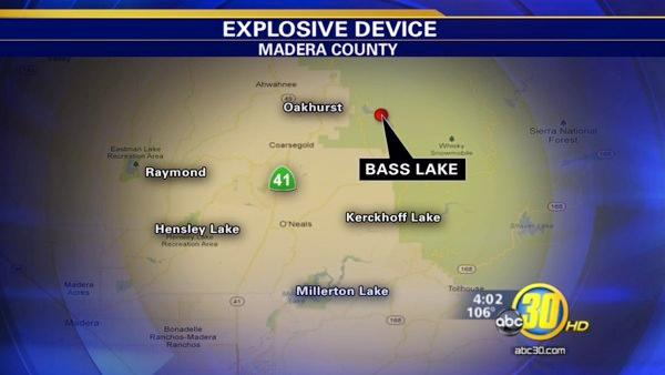 Explosion rocks Bass Lake Courthouse