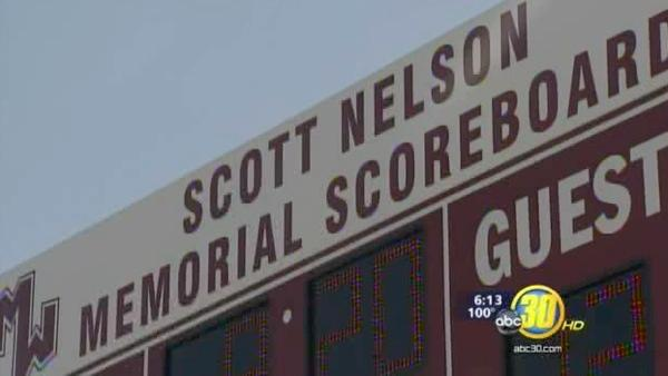Mt. Whitney High School unveiled tribute to Scott Nelson