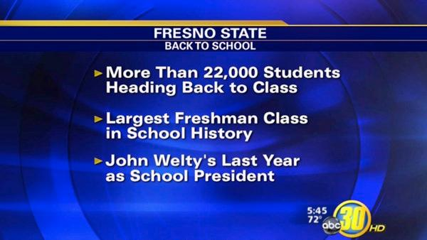 Thousands head back to school at Fresno State