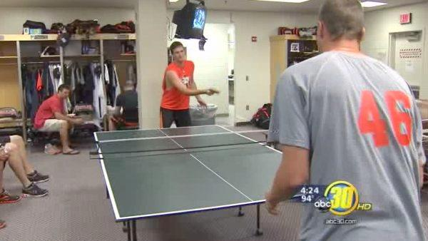 Good Sports: Ping pong table livens up Grizzlies locker room