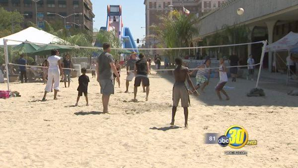 Thousands attend beach party in Downtown Fresno