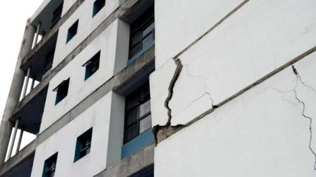 A wall at the University of Costa Ricas school of electrical engineering is damaged after an earthquake in San Jose, Costa Rica, Wednesday, Sept. 5, 2012.