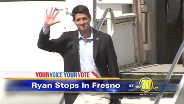VP candidate Paul Ryan makes Fresno visit