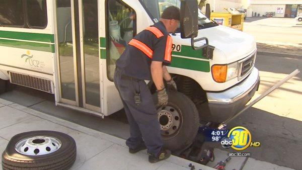 Vandals slash tires at Fresno cerebral palsy center