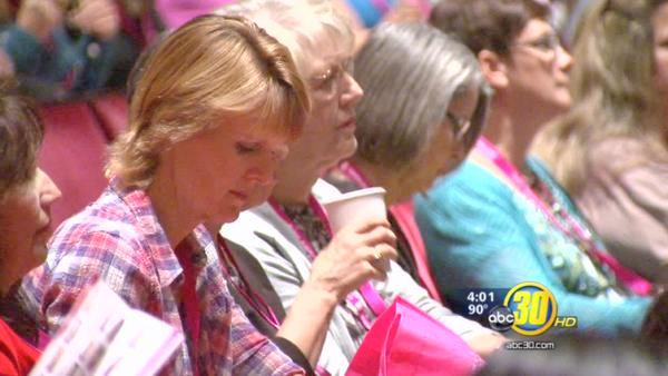 Thousands of women gather in Downtown Fresno