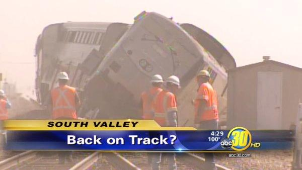 Trains are up and running after Amtrak derailment