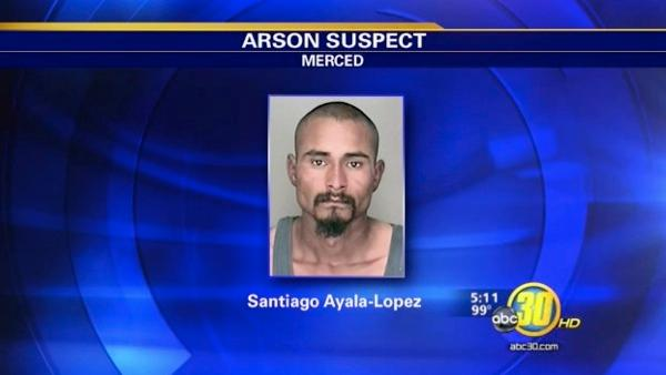 Merced man accused of arson arrested