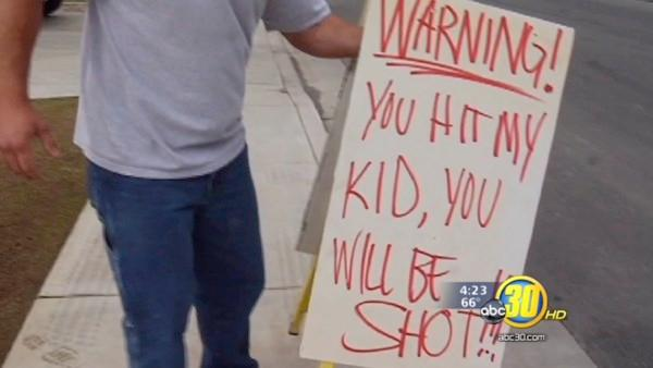 Dad threatens speeders with being shot in Bakersfield
