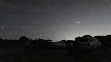 A shooting star above the Montebello Open Space Preserve in Palo Alto, Calif. Streaking fireballs lighting up California skies and stunning stargazers are part of a major meteor shower, and the show is just getting started, professional observers said.