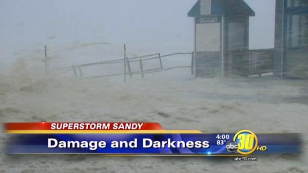 Superstorm Sandy hits East Coast with a vengeance