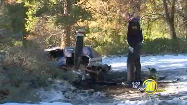 Action News exclusive: Plane crash site, widow speaks out