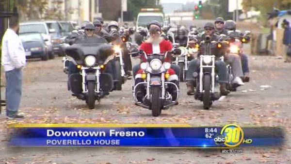 Bikers deliver toys to Poverello House