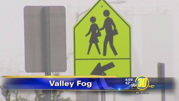 Fog delays schools across the Valley
