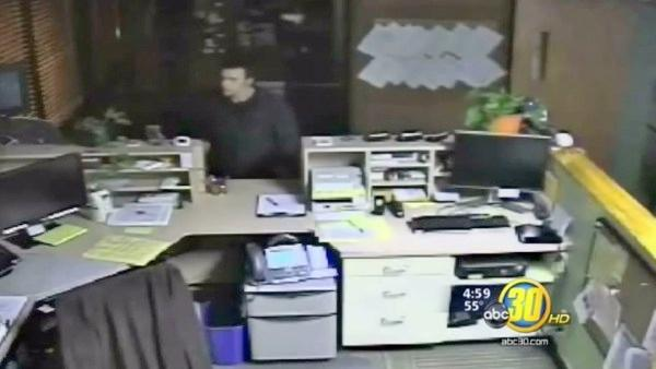 Burglar caught on camera at power company