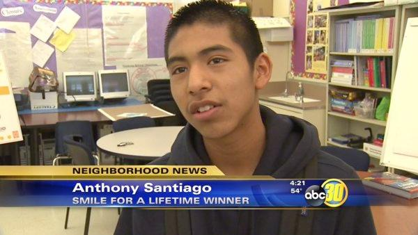 Central Valley star student receives Smile Scholarship