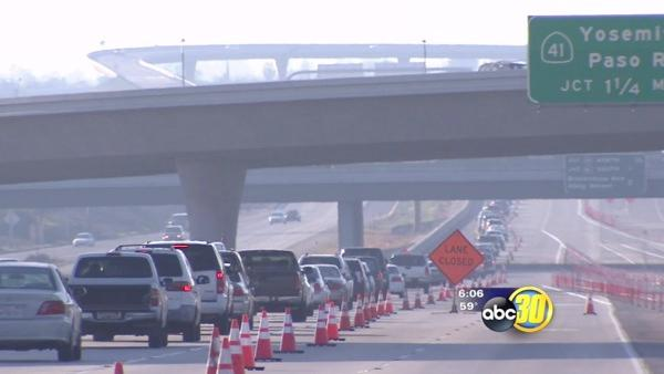 HWY 180 Westbound construction delays