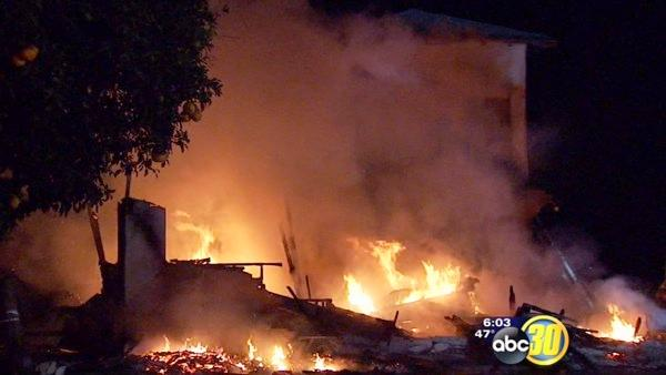 Vacant home burns down near Selma