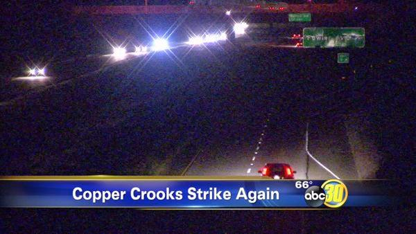 Copper crooks strike again along Highway 168