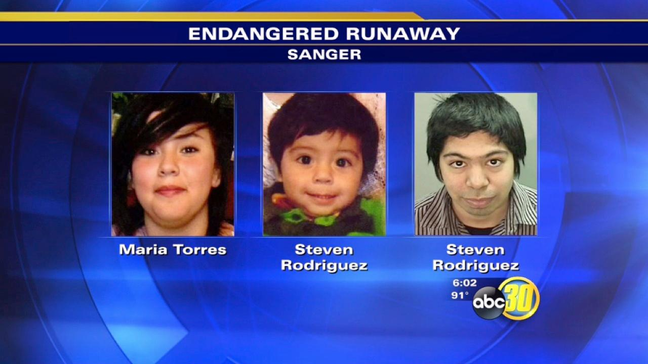 Sanger Police look for missing 14-year-old and baby