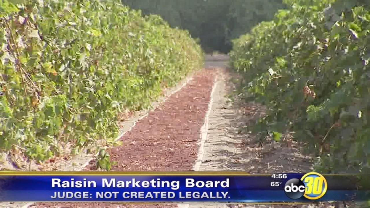Judge: California Raisin board formed illegally