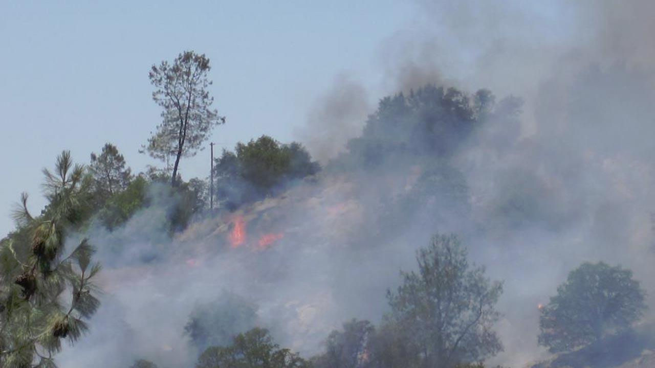 Fire at Yosemite Lakes Park