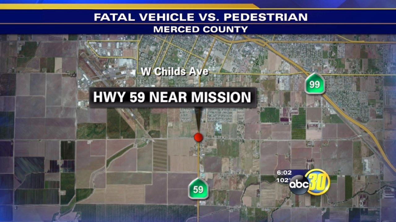 Merced pedestrian hit by multiple cars