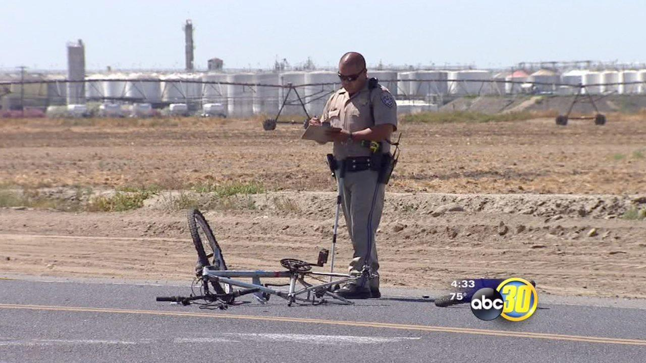 Bicyclist hit by big rig in Madera County
