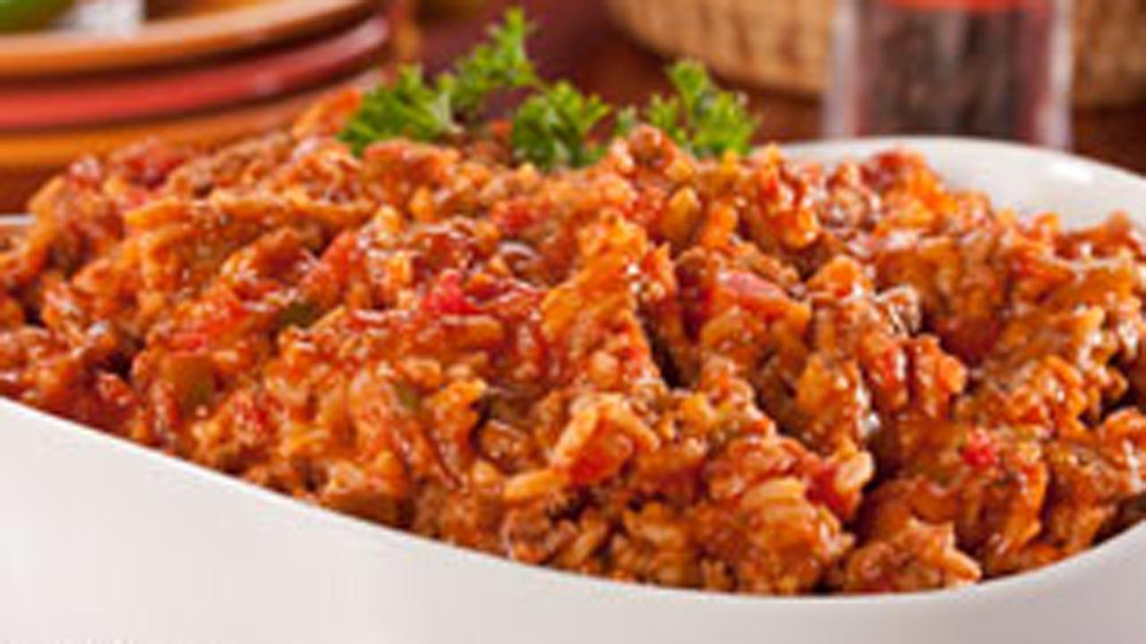 Beefed-Up Spanish Rice
