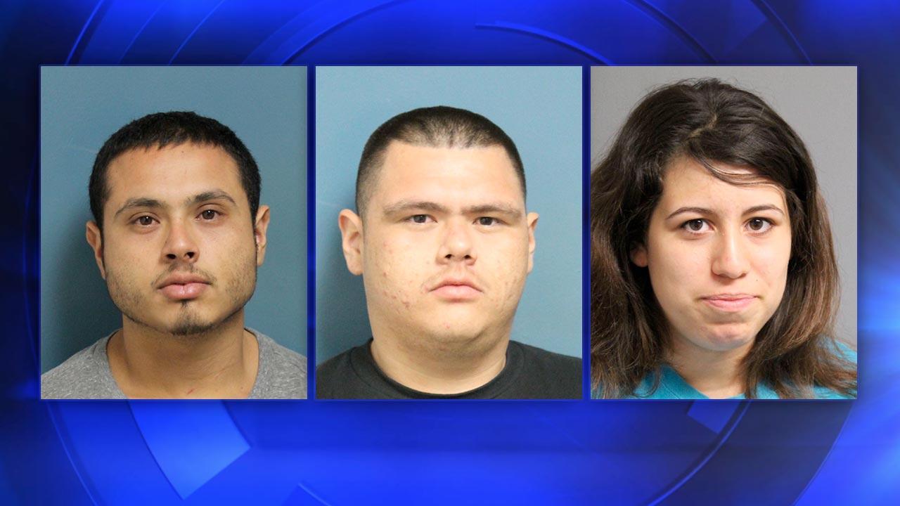 Suspects Rafael Ramos Jr., Jesus Ramos, and Brittanie Acevedo