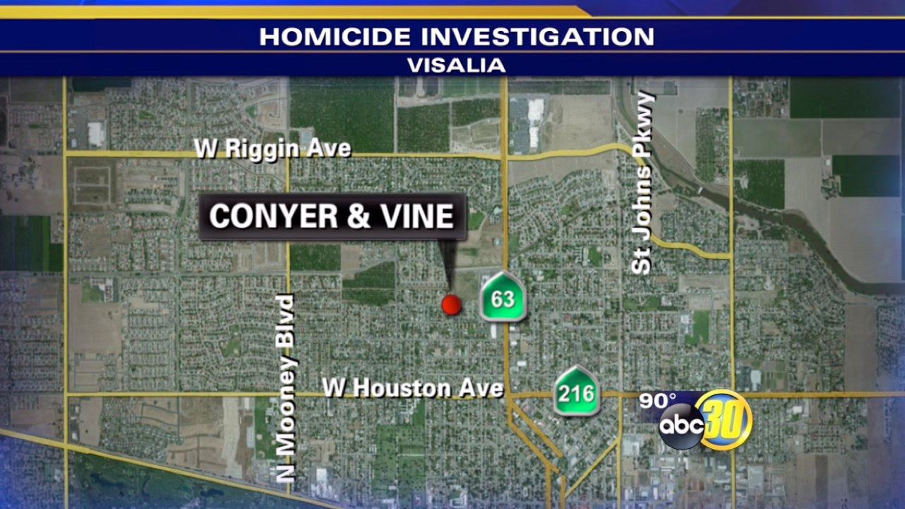 Fatal shooting in Visalia near Conyer and Vine