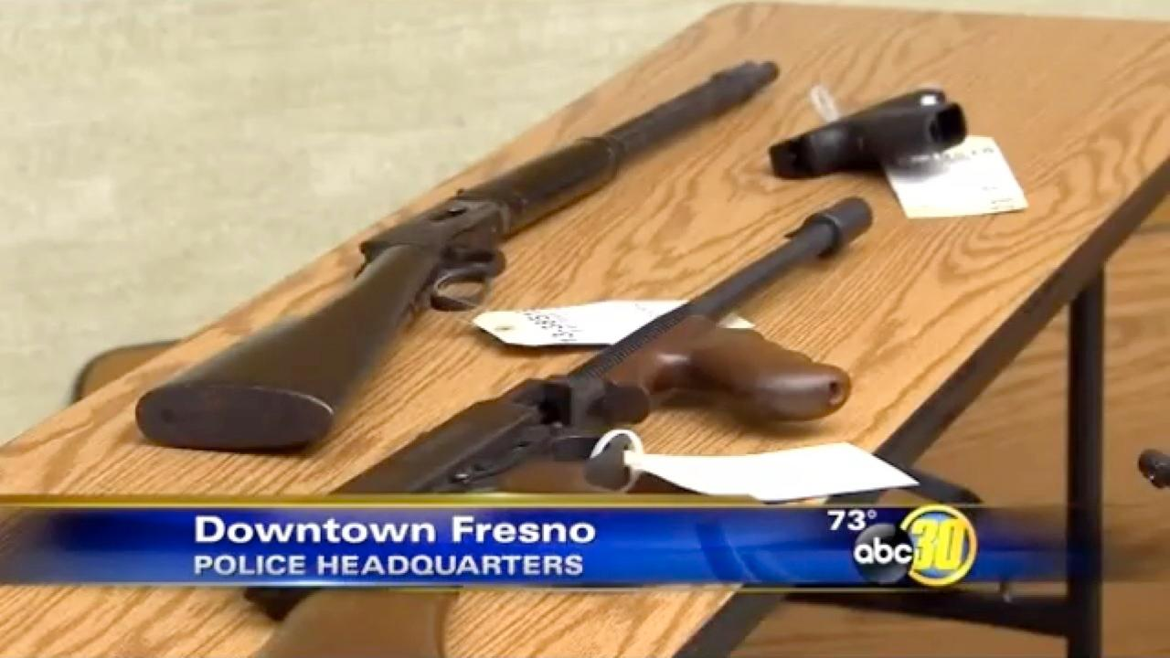Fresno Police seize weapons from gang members