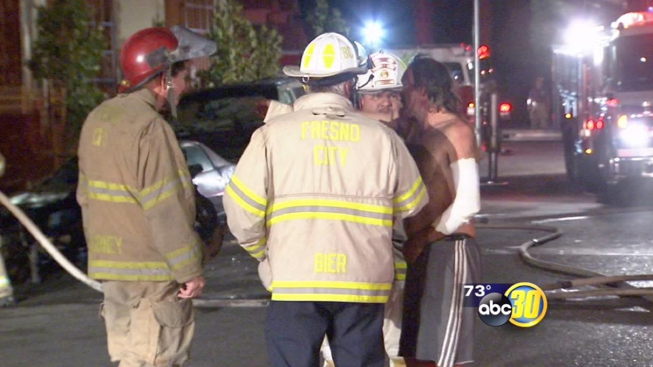 2 treated in Downtown fire