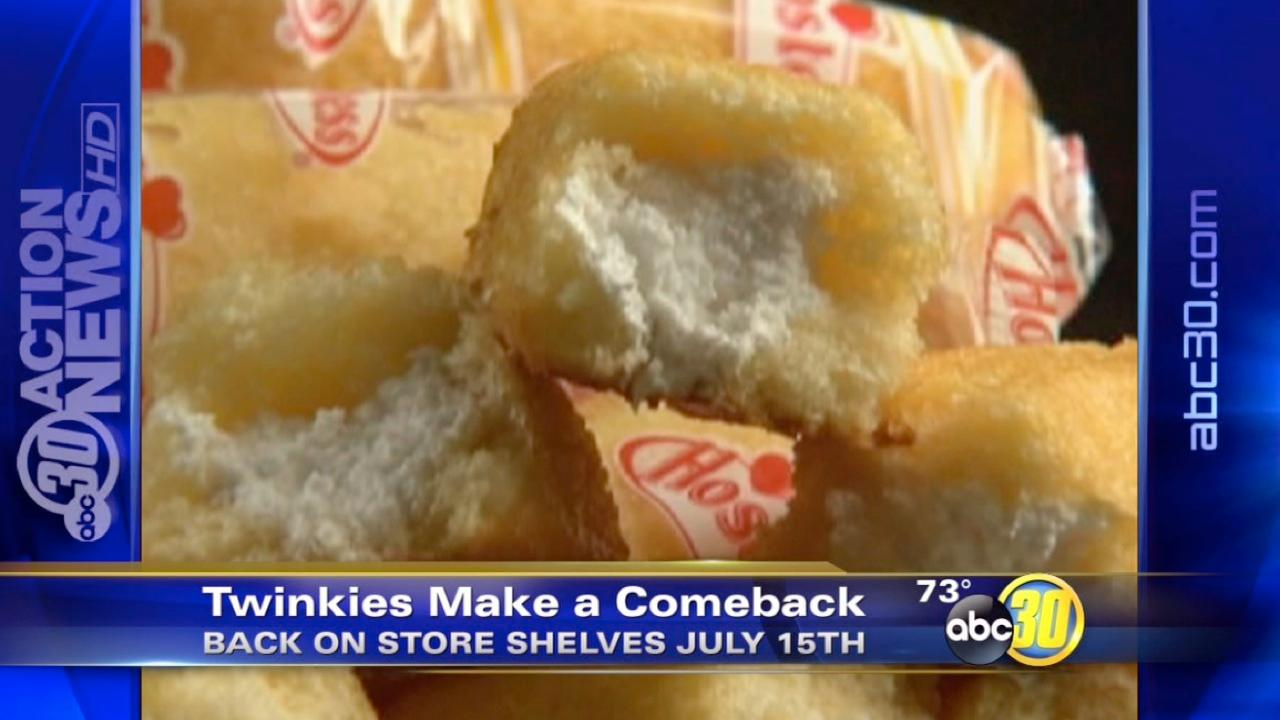 Twinkies to come back next month