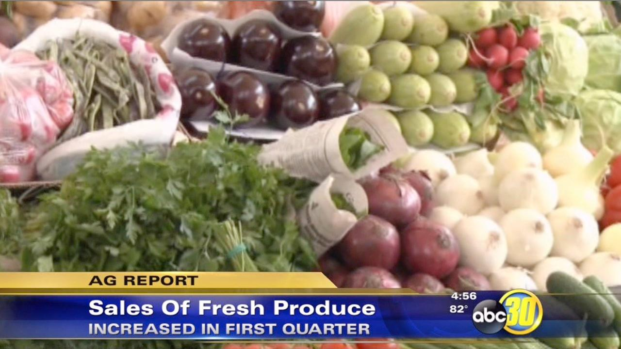Fresh produce sales increase