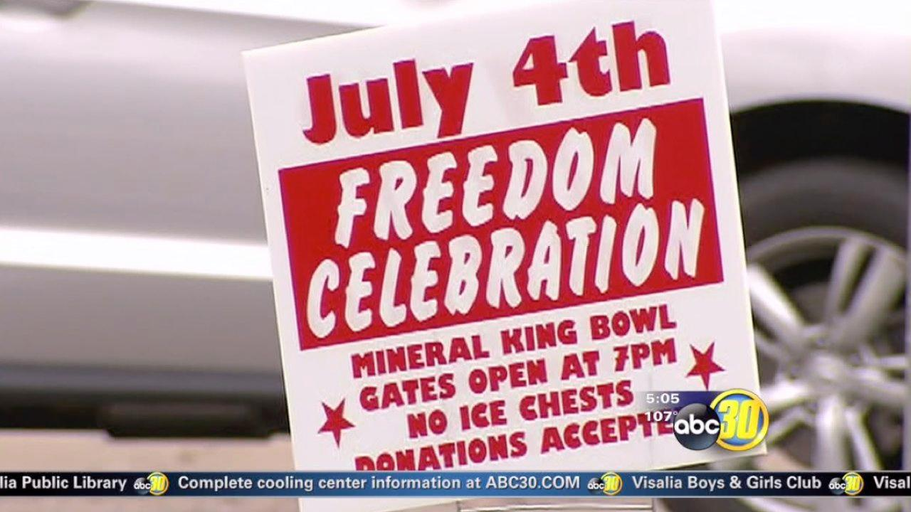 Visalia fireworks show may move locations